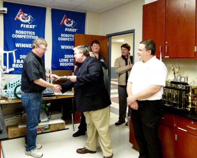 Nines years of Halliburton support.