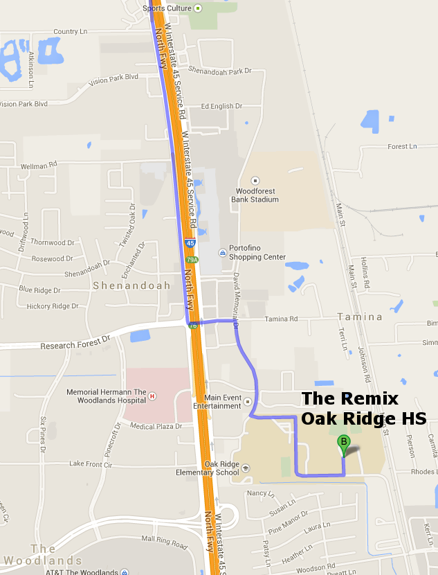 The Remix at ORHS (from the north)